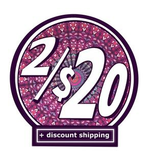 2/$20 Sale! Look for items 2/20 and send an offer!